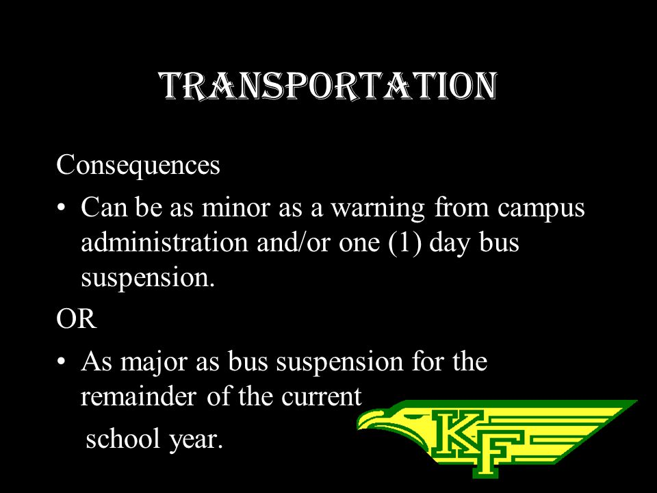Transportation Consequences
