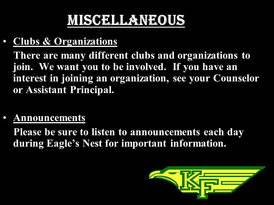 Miscellaneous Clubs & Organizations