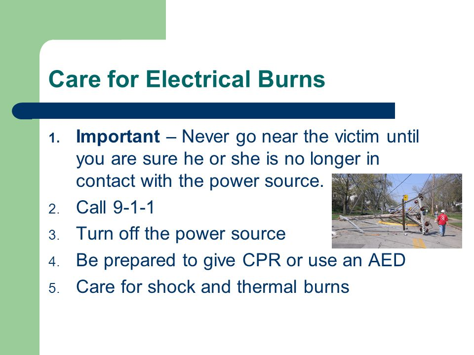 Care for Electrical Burns