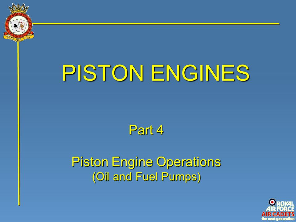 Piston Engine Operations