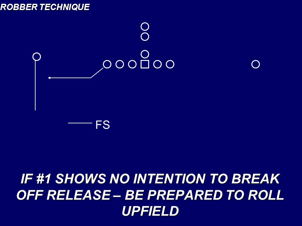 ROBBER TECHNIQUE FS IF #1 SHOWS NO INTENTION TO BREAK OFF RELEASE – BE PREPARED TO ROLL UPFIELD
