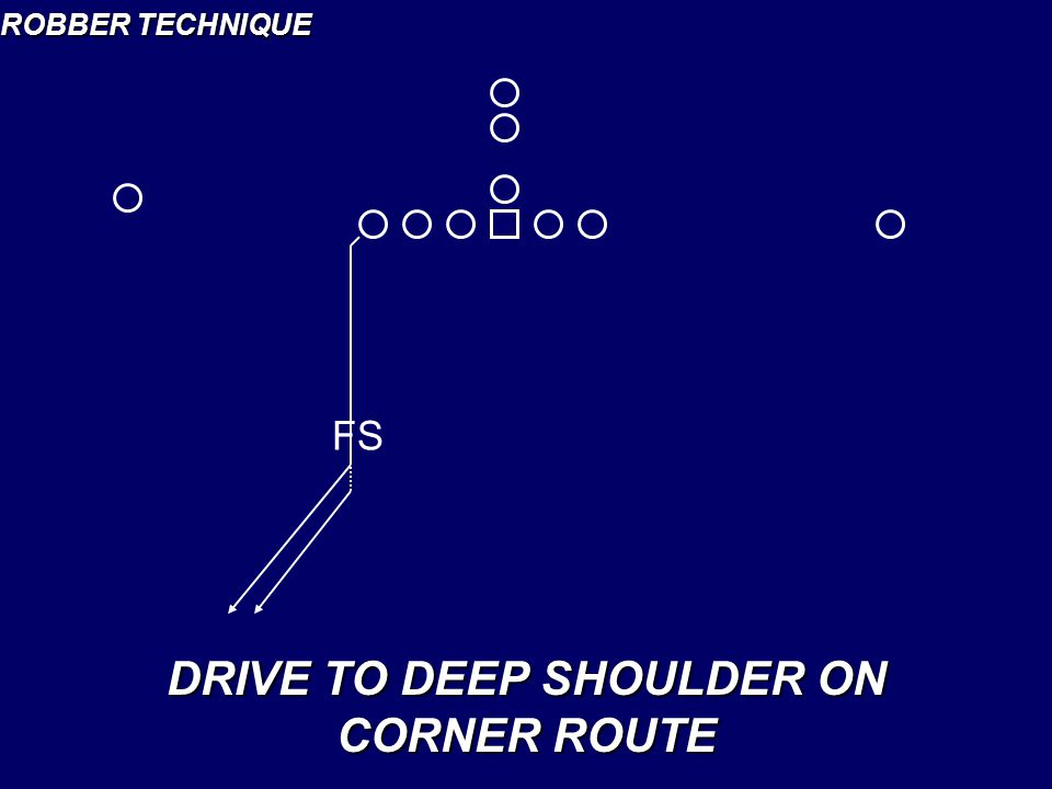 DRIVE TO DEEP SHOULDER ON CORNER ROUTE