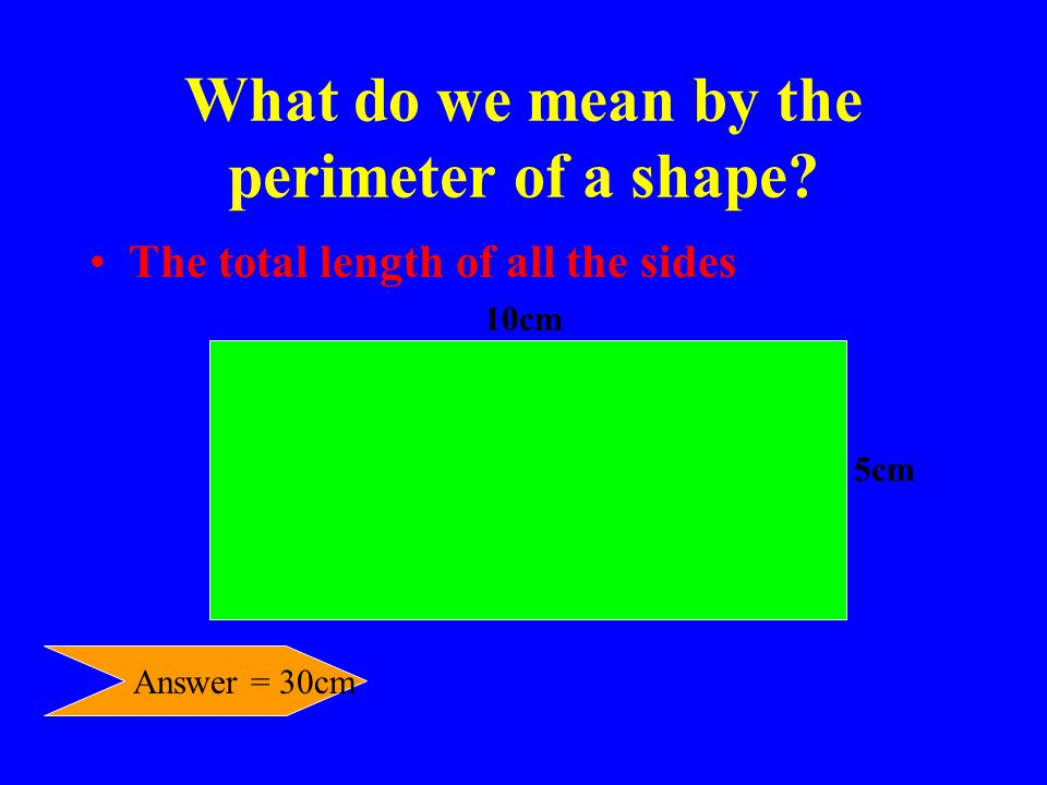 What do we mean by the perimeter of a shape