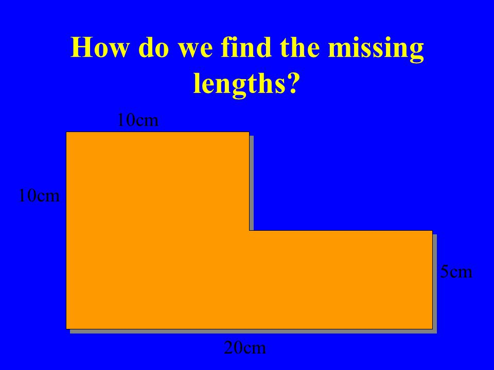 How do we find the missing lengths