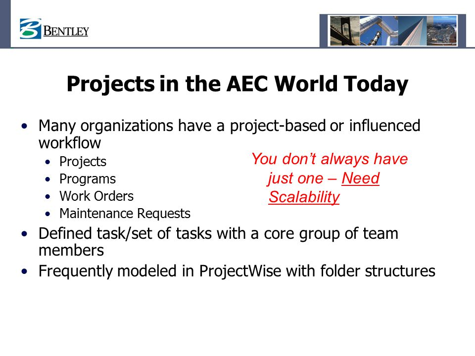 Projects in the AEC World Today