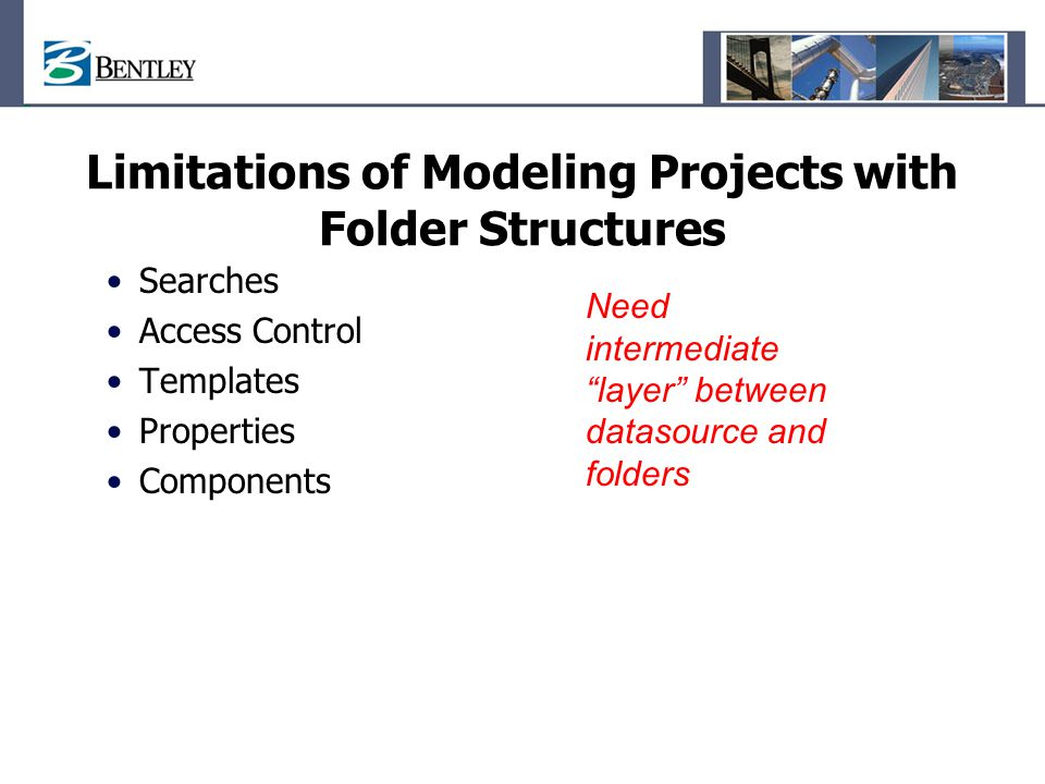 Limitations of Modeling Projects with Folder Structures