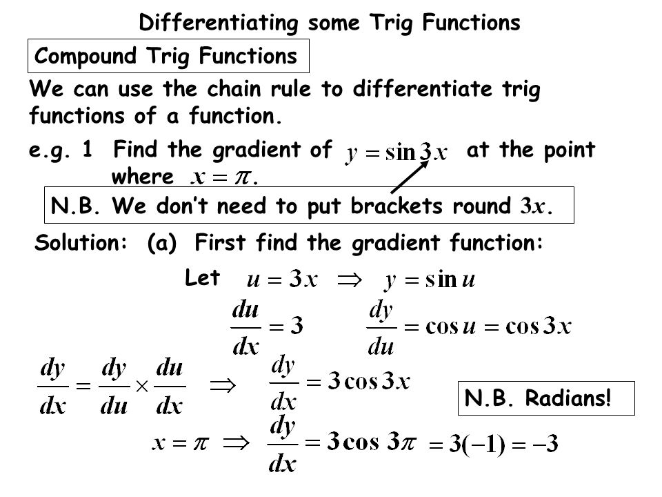Compound Trig Functions
