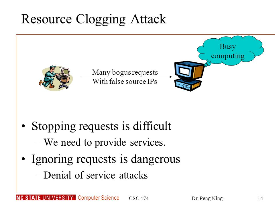Resource Clogging Attack