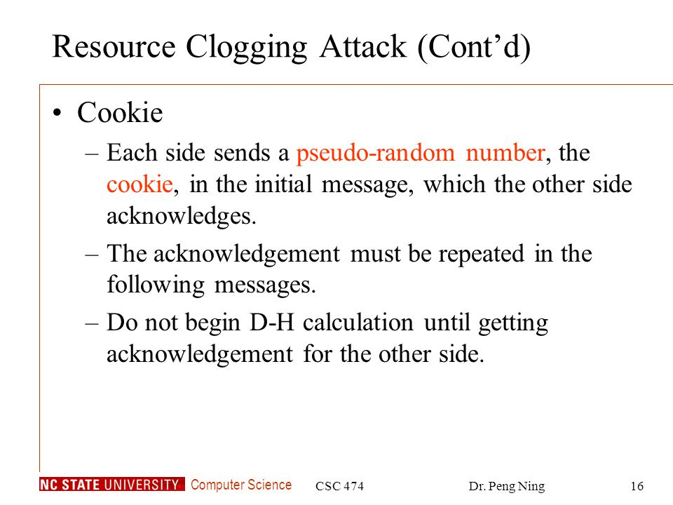 Resource Clogging Attack (Cont'd)