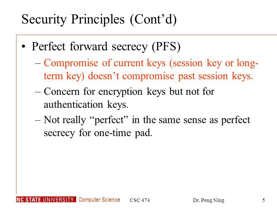 Security Principles (Cont'd)