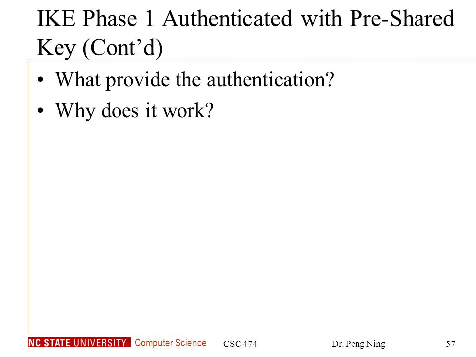 IKE Phase 1 Authenticated with Pre-Shared Key (Cont'd)