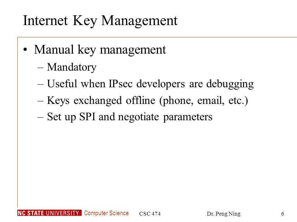 Internet Key Management