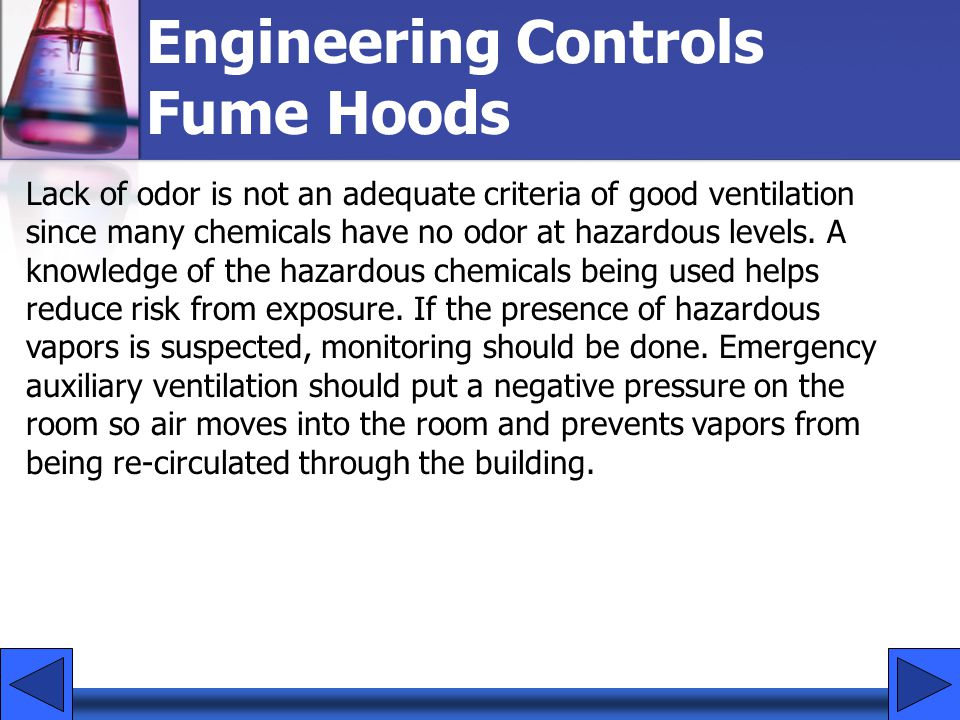 Engineering Controls Fume Hoods