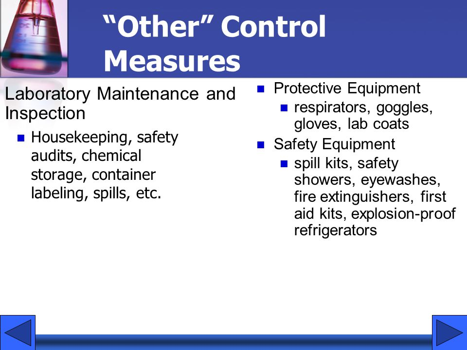 Other Control Measures