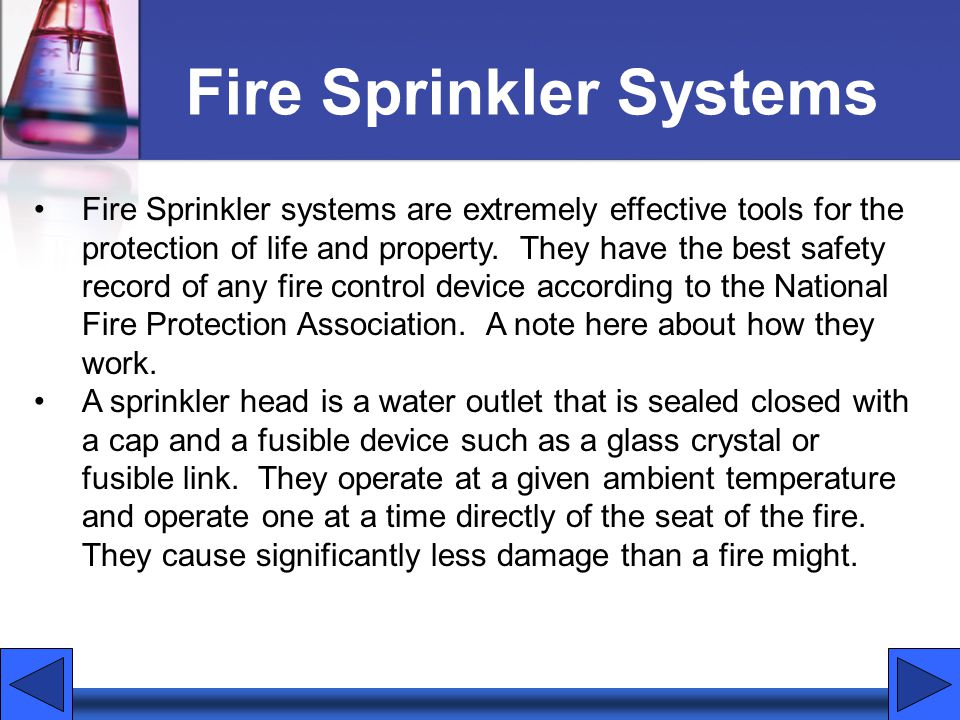 Fire Sprinkler Systems