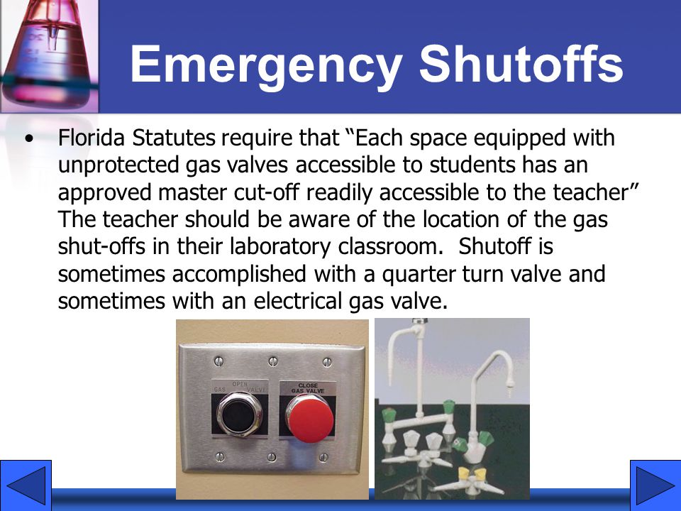 Emergency Shutoffs