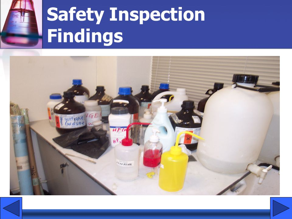 Safety Inspection Findings
