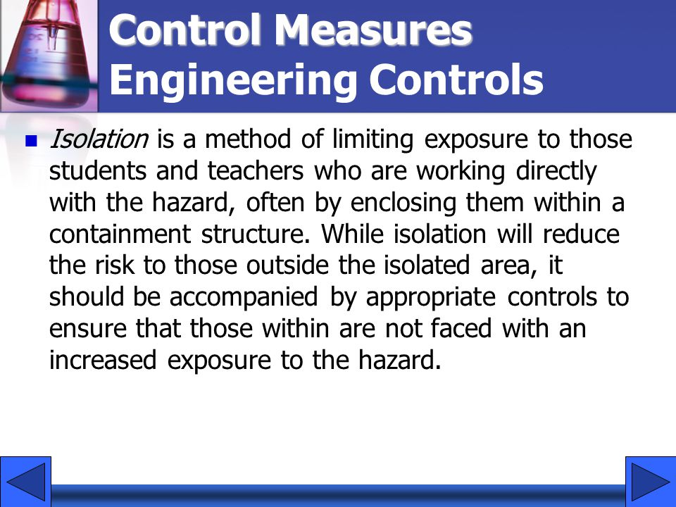 Control Measures Engineering Controls