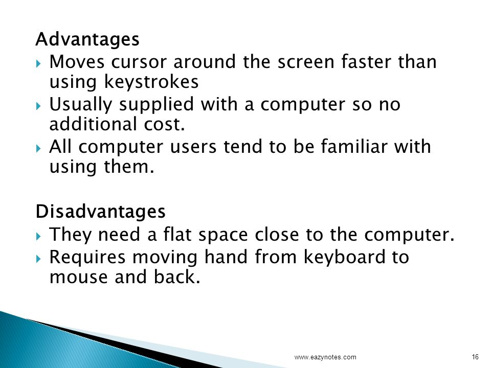 Moves cursor around the screen faster than using keystrokes