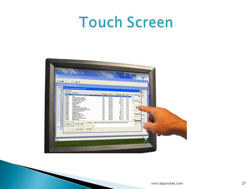 Touch Screen www.eazynotes.com