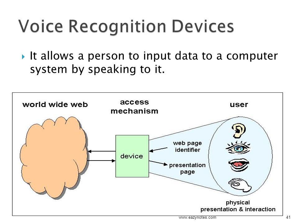 Voice Recognition Devices