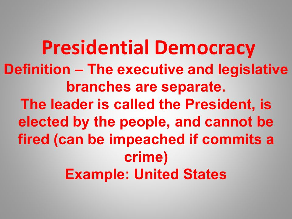 Presidential Democracy