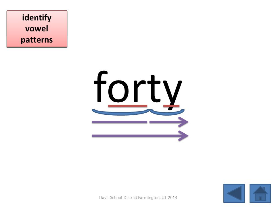 forty click per vowel blend individual syllables