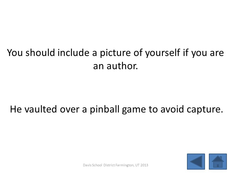 You should include a picture of yourself if you are an author.