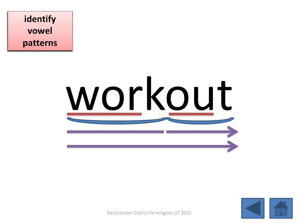 workout click per vowel blend individual syllables