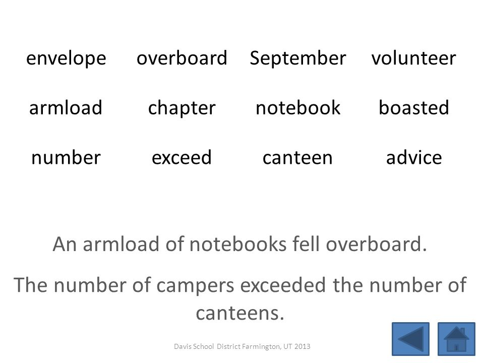An armload of notebooks fell overboard.