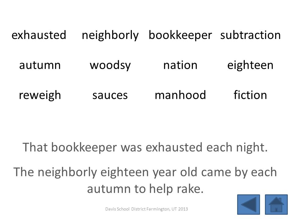 That bookkeeper was exhausted each night.