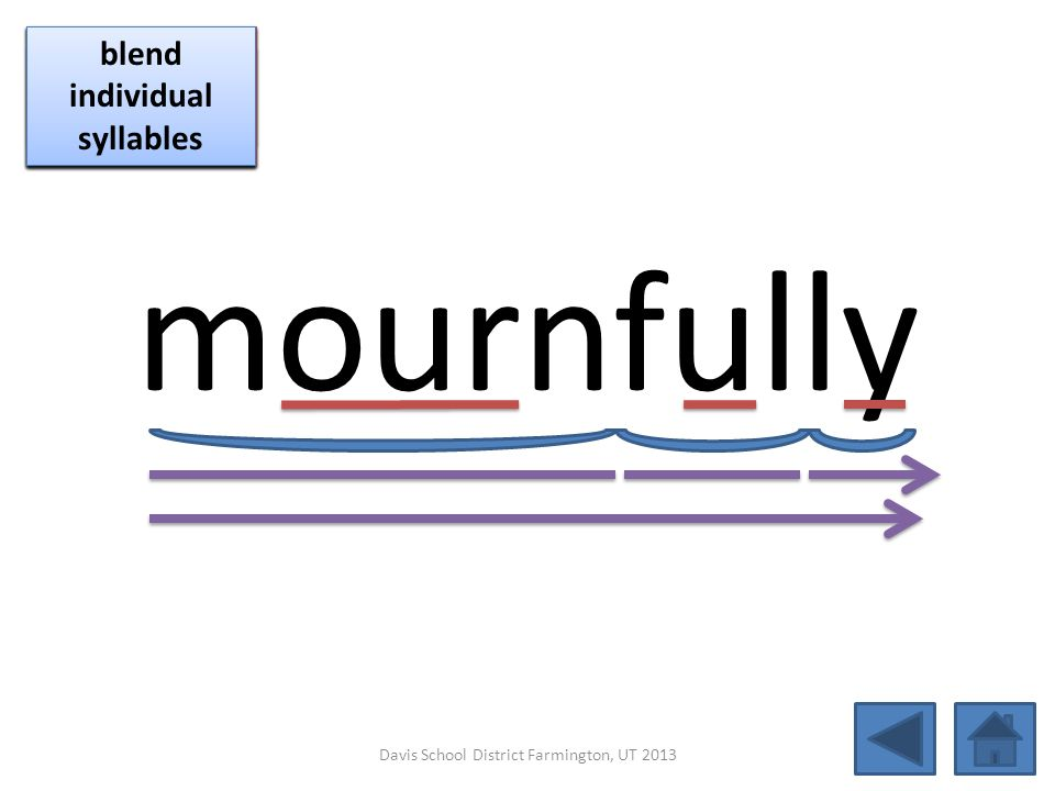 mournfully click per vowel blend individual syllables