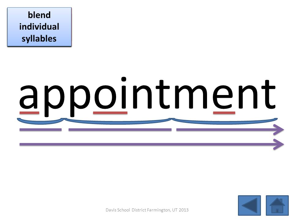 appointment click per vowel blend individual syllables