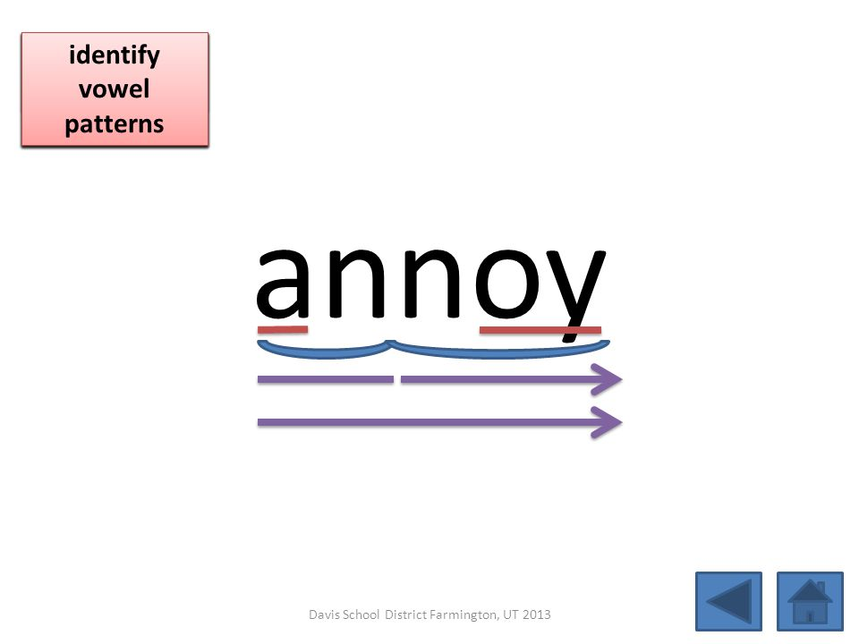 annoy click per vowel blend individual syllables
