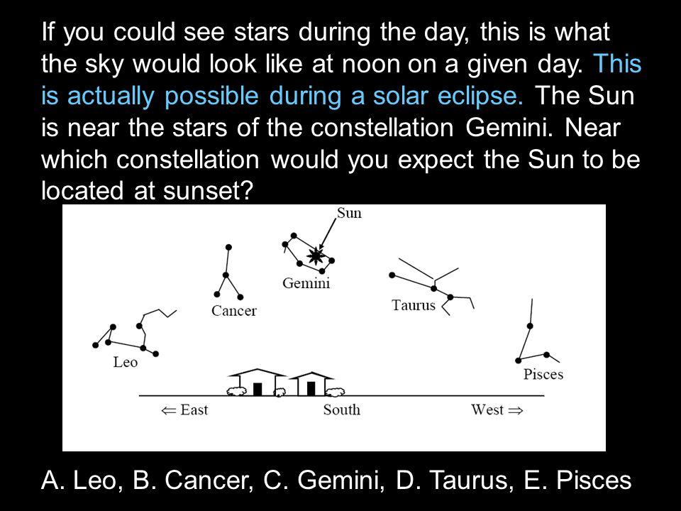 A. Leo, B. Cancer, C. Gemini, D. Taurus, E. Pisces
