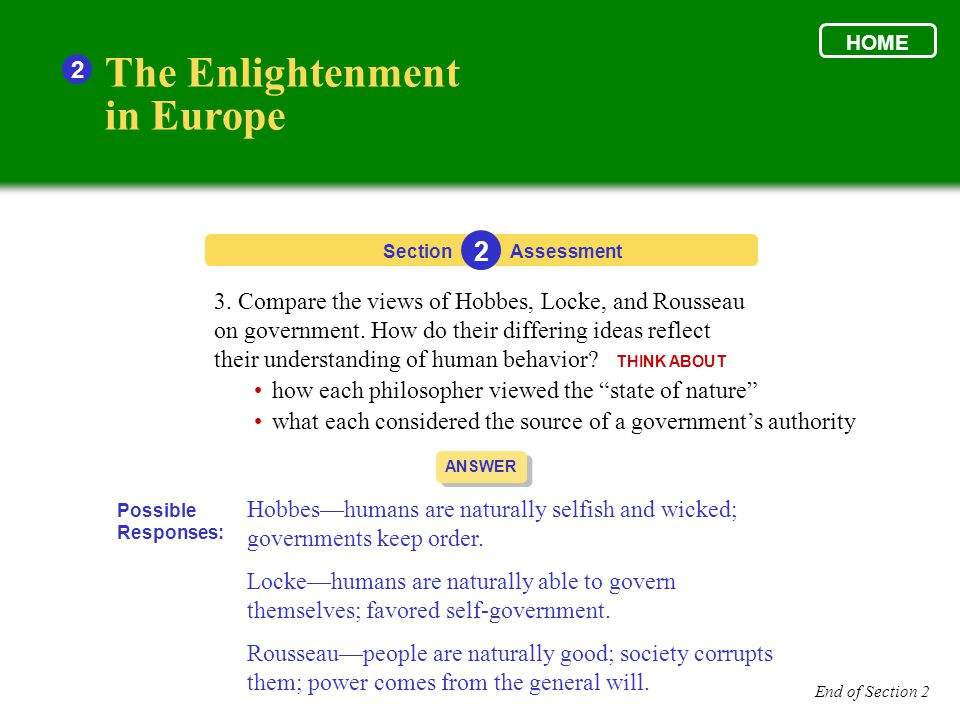 The Enlightenment in Europe 2 2