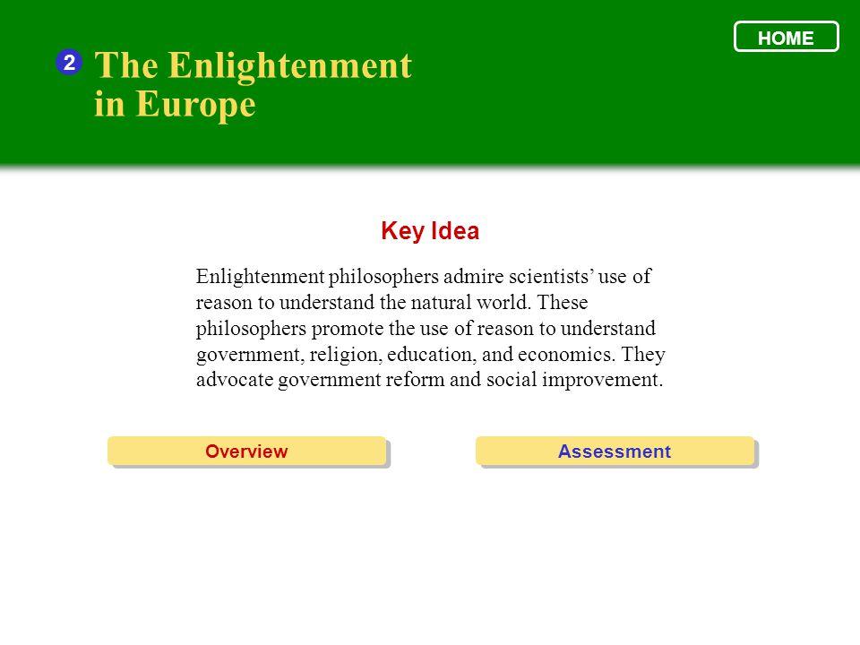 The Enlightenment in Europe Key Idea 2