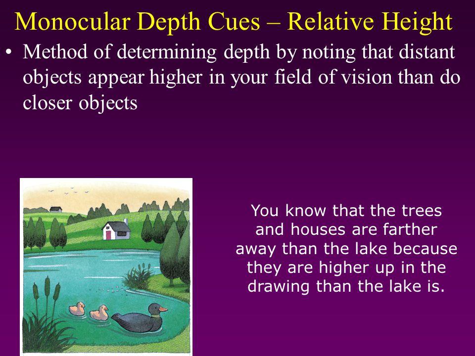 Monocular Depth Cues – Relative Height