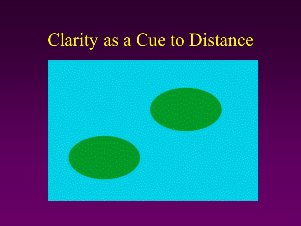 Clarity as a Cue to Distance