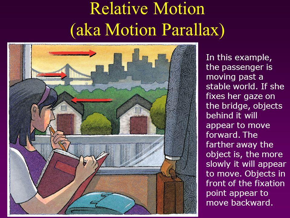 Relative Motion (aka Motion Parallax)