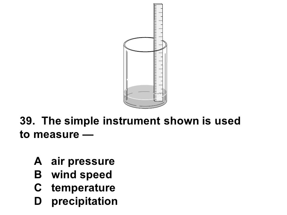 39. The simple instrument shown is used