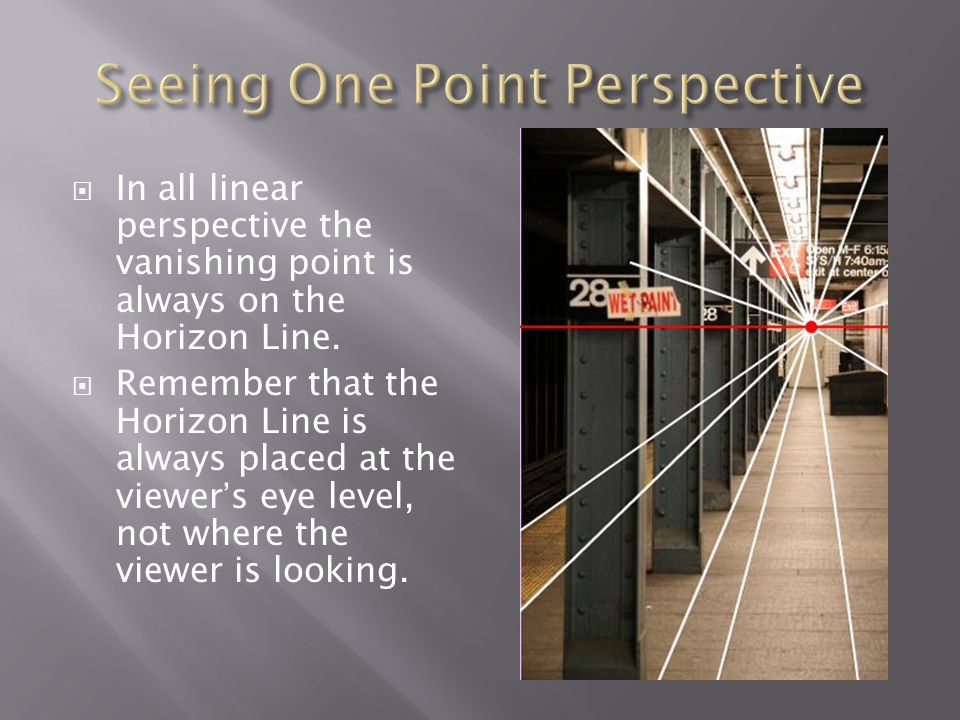 Seeing One Point Perspective
