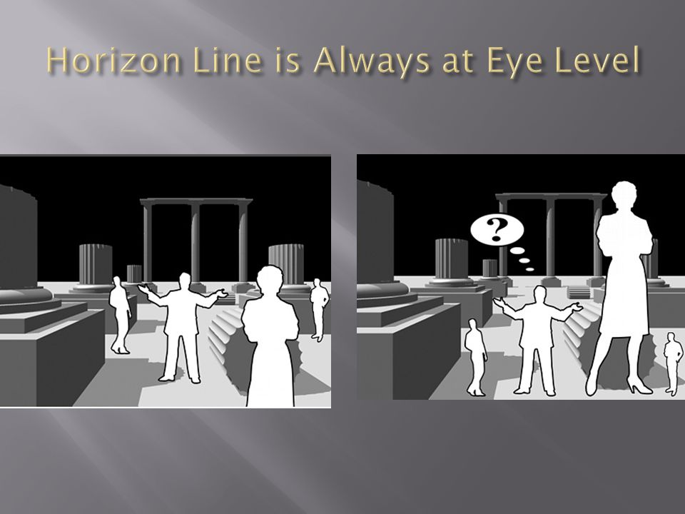 Horizon Line is Always at Eye Level