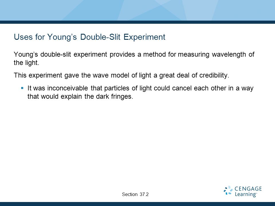 Uses for Young's Double-Slit Experiment