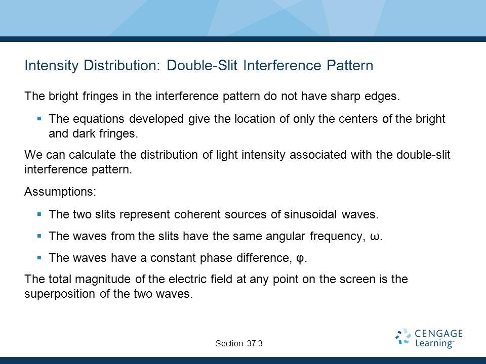 Intensity Distribution: Double-Slit Interference Pattern