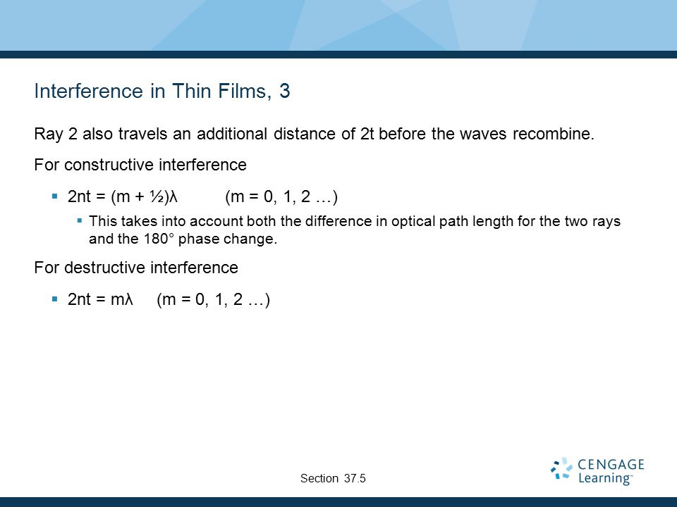 Interference in Thin Films, 3