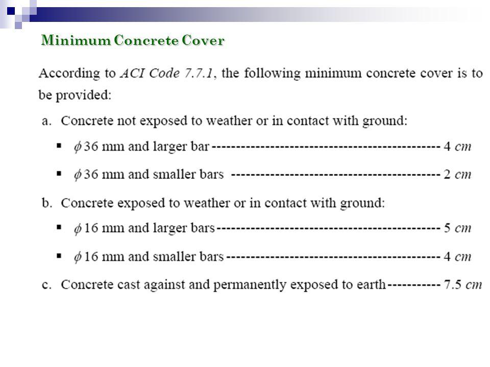 Minimum Concrete Cover
