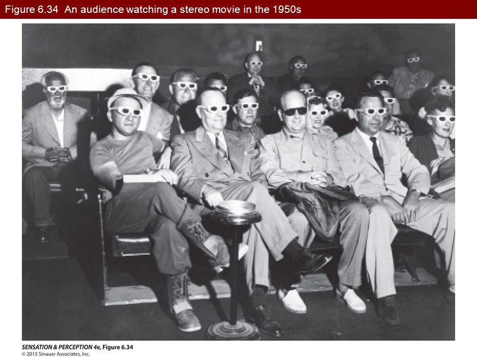 Figure 6.34 An audience watching a stereo movie in the 1950s