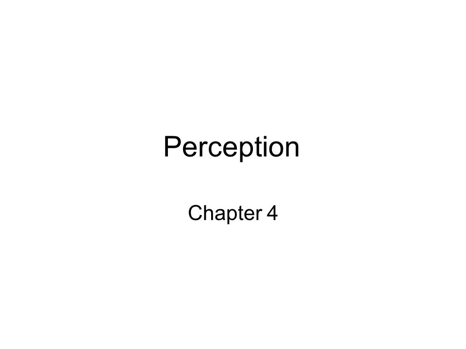 Perception Chapter 4