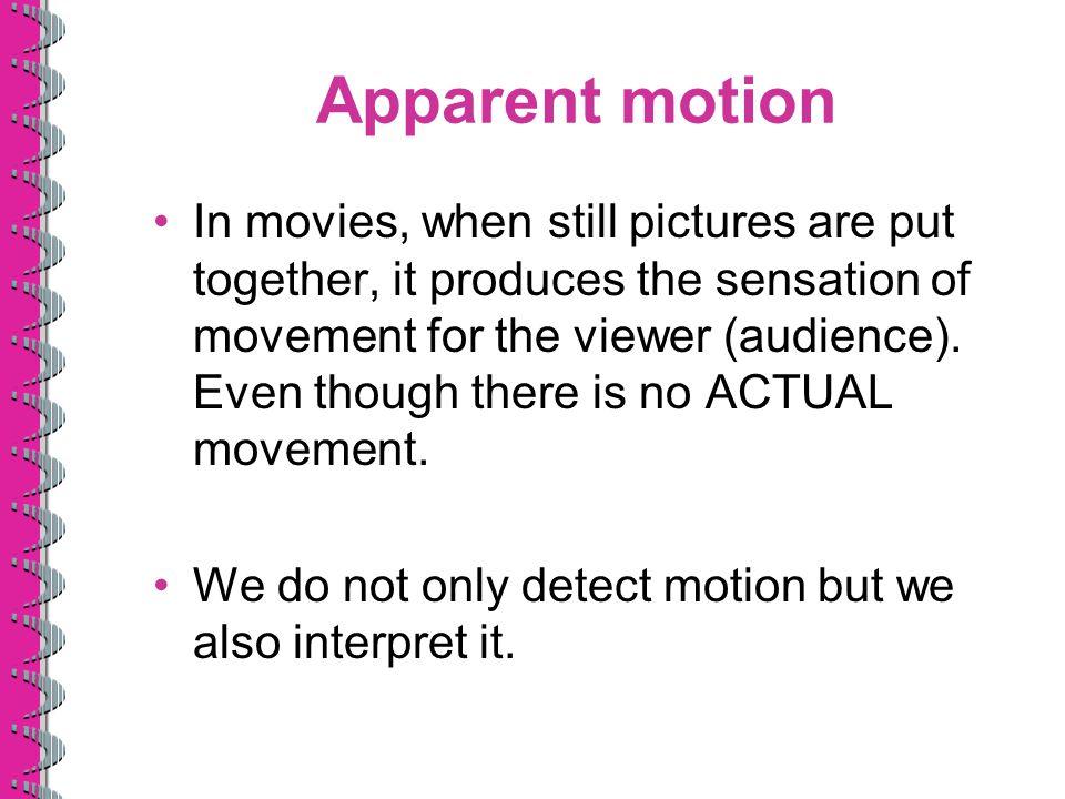 Apparent motion